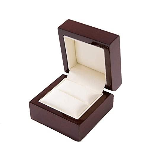 Cajas de reloj de madera Caja de almacenamiento para relojes, caja expositora para uso diario o viajes de negocios (color: marrón, tamaño: 6 x 6 x 4,5 cm) (color: marrón, tamaño: 6 x 6 x 4,5 cm)
