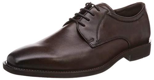 ECCO Men's Calcan Plain Toe Tie Oxford, Cocoa Brown, 6-6.5
