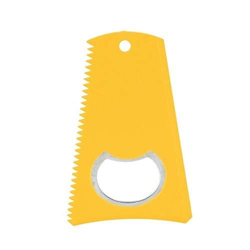 rouroumaoyi Surfbrett Wax Comb Surfboard Longboard-Wachs-Remover Surfen Zubehör Wachs Reinigungswerkzeug mit Schlüsselanhänger Loch for Wassersport (Color : Yellow, Size : 1pcs)