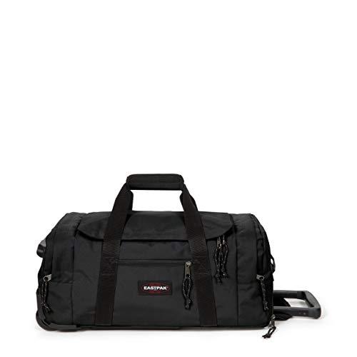 Eastpak Leatherface S + Reisetasche, 55 cm, 41 L, Schwarz (Black)