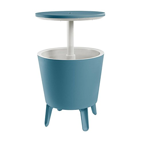 All Goodly 2-in-1 Blue Cooler Bar Table Patio Cocktail Party Table (Blue)