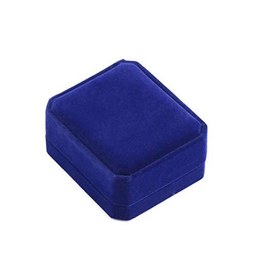 ZZLLFF Joyería Pendiente de Cristal Nueva Piedra Natural amatistas de Cristal Colgante Collar de Las señoras de la aleación joyería de la Cadena Caja de Regalo (Metal Color : Gift Box)