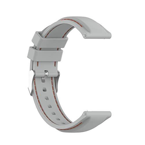 EATAN Leiouser - Correa de silicona de repuesto universal de 22 mm, compatible con reloj inteligente TicWatch Pro 3 GPS y más reloj