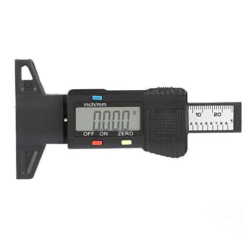 Tiefenmesser, Profilmesser, digitales Profiltiefenmessgerät, Reifengewindetester, Profilmesser mit LCD-Display