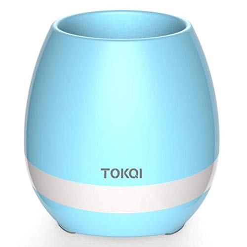 TOKQI K3 Bluetooth-luidspreker, smart muziek pot bloem, touch-sensor kan piano spelen Blauw