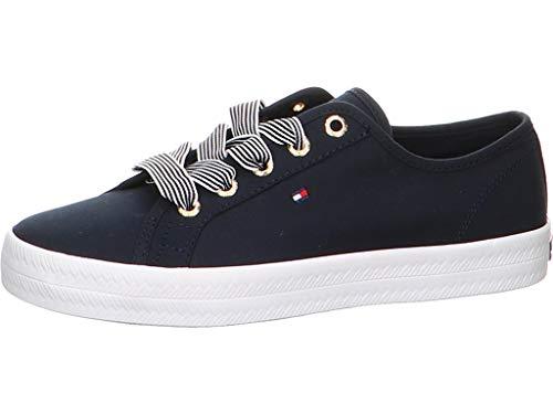 Tommy Hilfiger Damen Essential Nautical Sneaker, Blau (Desert Sky Dw5), 40 EU