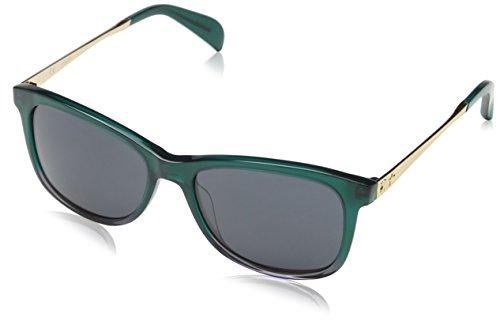 TOUS STO918-540GRG Gafas de Sol, Shiny Dark Green, 54 para Mujer