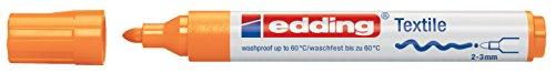 edding Textilmarker edding 4500 creative, Rundspitze, 2-3 mm, neonorange