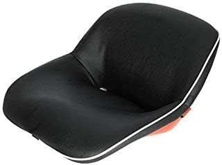 Seat Assembly Vinyl Black with Orange Steel Backed Seat Kubota L245 L275 L235 L185 L345 M4500 B8200 L175 L2350 L225 M7500 M4050 L295 B7100 B6100 L2050 L285 M4000 L355 M5500 B5100 B4200 L260 L210 L200