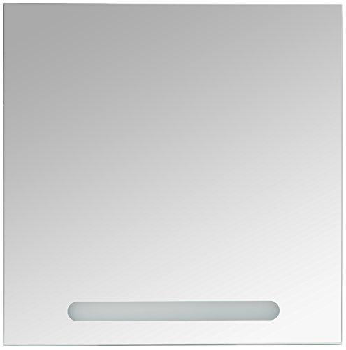 Pelipal 370 Fresh Line Grey spiegel met LED, houtdecor, betonlook, 3,0 x 70,0 x 70,0 cm