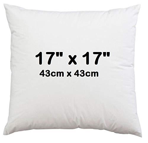 Maria Luxury Bedding & Linen 17' x 17' (43cm x 43cm) Cushion Inner Pads, Pillow Insert Sham Inners, Stuffer Hollow Fiber Cushion Pads - Pack of 1