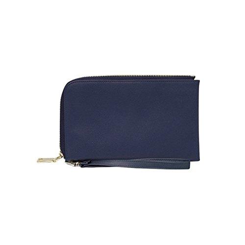MightyPurse Spark Wristlet - Vegan Leather, Smartphone Charging Wristlet - Navy