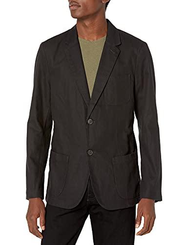 Goodthreads - Americana de lino de corte ajustado para hombre, Negro, US M (EU M)