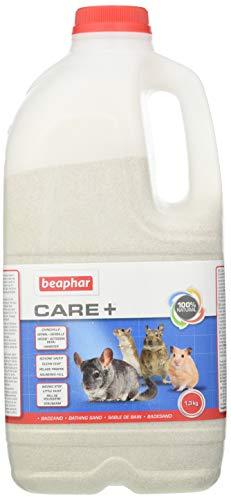 beaphar XtraVital Chinchilla Badesand | Sand zur Fellpflege | Waschsand für Chinchillas | Absorbiert Feuchtigkeit & überschüssiges Fett | 1,3 kg Badesand