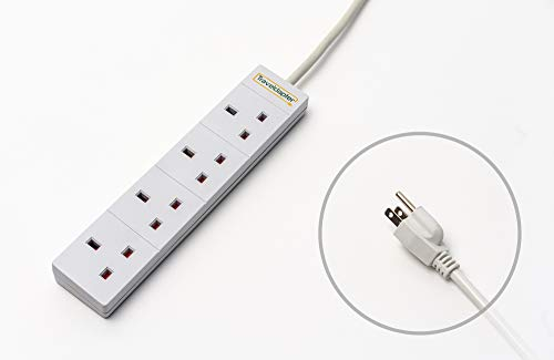 YOUTHINK Multiprise Parafoudre 5 Ports USB Protection Contre Les Surtensions 3 Voies Plusieurs Universel Prises Avec Commutateur et Fonction Timer 2M-Noir