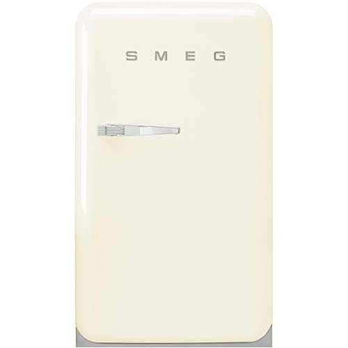 Smeg FAB10RCR2 - Nevera combi (Independiente, Crema de color, Derecho, Vidrio, 114 L, SN-T)