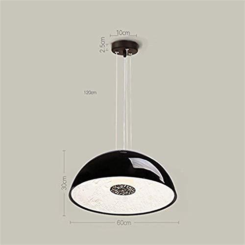Pendant Lamps Led Semi-Circular Chandeliers, Modern Ceiling Shades Kitchen Bathroom Cafe Bar - White/Black Chandelier Lampshade,Black-40 20cm Pendant Lights r Lighting HUERDAIIT