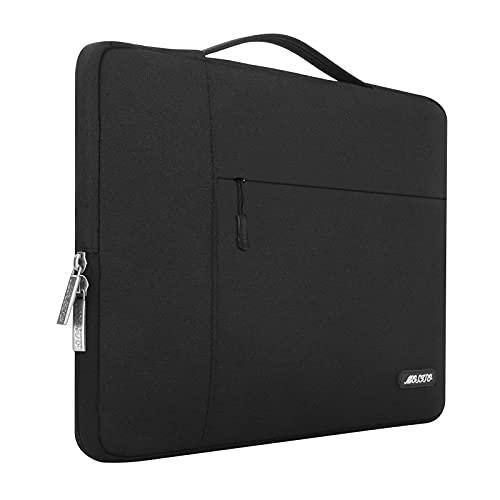 MOSISO Funda Blanda Compatible con MacBook Air 13-13,3 Pulgadas/MacBook Pro Retina/Ordenador Portátil, Poliéster Maletín Protectora Multifuncional Bolso,Negro