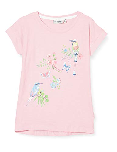 Salt & Pepper Mädchen 03112274 T-Shirt, Rosa (Soft Pink 824), (Herstellergröße: 92/98)
