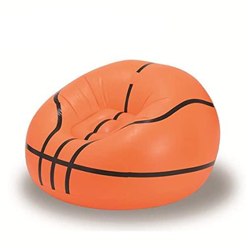 FuncDEme Aufblasbare Stuhl Sofa, Klapp Faul Boden Stuhl Sofa Liege Bett, Ultraleicht Tragbare Luft Sofa, für Camping Garten Strand Außen (Basketball)