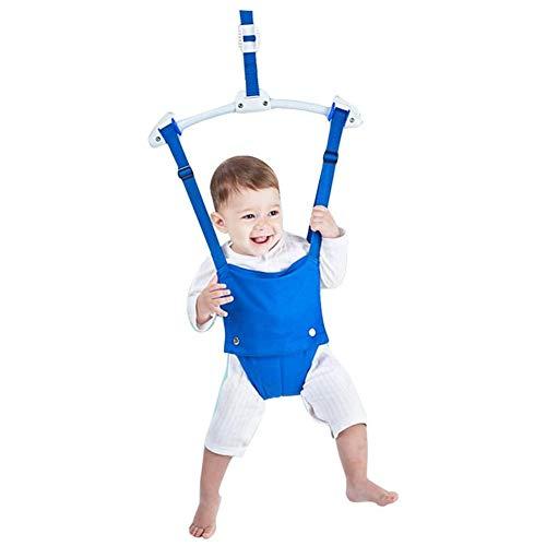 XIAOXIA Baby Tür Schaukel Springen Übung Türhopser Türrahmen Jumper, Baby Trainingsgerät Mit Türklammer, Bounce Frühling Für Säuglingskleinkind 6-12 Monate,Blau