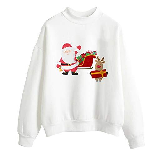 Luckycat Weihnachten Kapuzenpullover Damen Sweatshirts Langarm Weihnachtspullover Sweatshirt Langarm Schneemann Drucken Christmas Hoodie Kapuzen Oberteil Weihnachtspulli Loose Longpullover