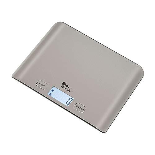 Bilancia da Cucina, 5Kg/1g Bilancia Elettronica Digitale Alta Precisione Misurazione Display LCD Multifunzione da Cucina e Acciaio Inossidabile