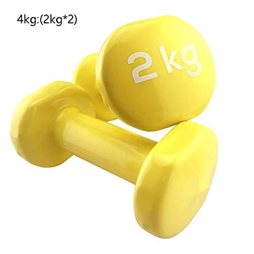 Xywh Fitness con Mancuernas 2 Los Pesos de Las PC con Mancuernas Gimnasio en casa Ejercicio Gimnasio en casa y rehabilitación - Ideal for Hombres y Mujeres Mancuernas del hogar (Color : 4kg (2kg*2))