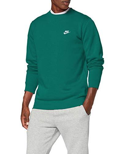 NIKE Sportswear Club Sudaderas, Hombre, Mystic Green/White, 2XL