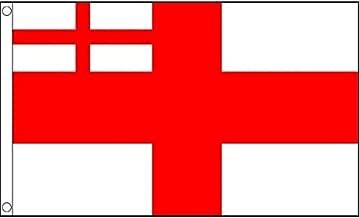 AZ FLAG UK White Ensign 1702-07 Flag 3' x 5' - Bristish Historic Flags 90 x 150 cm - Banner 3x5 ft