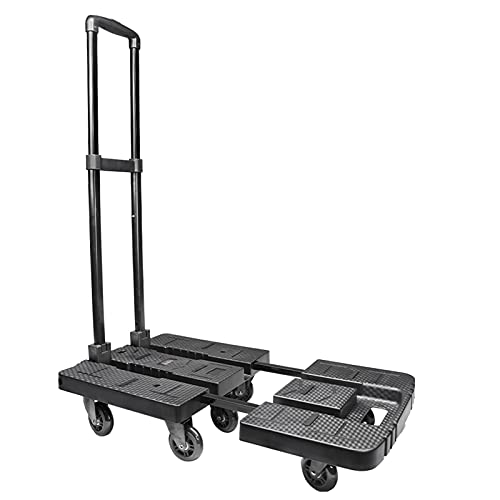 Hand Truck, Dolly for Moving Folding Hand Cart with 540 LBS Loading Capacity and 7 Heavy Duty Wheels Dolly Cart for Luggage, Personal, Travel, Moving and Office Use
