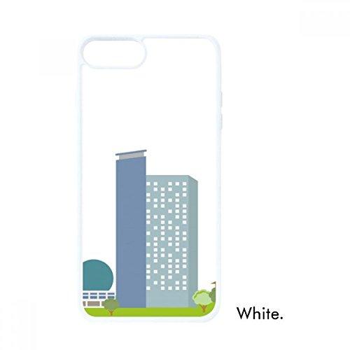 China Arquitectura TV Tower patrón de punto de referencia para iPhone SE 2 nuevo para Apple 78 caso cubierta blanco