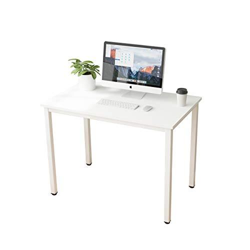 SogesHome Escritorio de Oficina Mesa de Comedor 100 x 60 x 75 cm oficina escritorio ,Mesa compacta,mesa de trabajo SH-LD-AC100WT