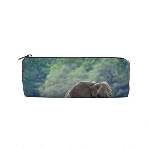 Estuche para lápices con diseño de elefantes africanos, con cremallera, ideal para la escuela, gran capacidad, para adolescentes, niños y niñas, oficina, viajes