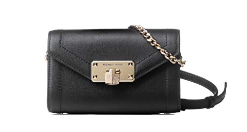 "Made of leather with silver studs Stylish and sophisticate Wear crossbody, perfect size to carry your daily essentials Outside 1 front slip pocket with flap, 1 back slip pocket. Inside 2 slip pockets 9.5""L x 6""H x 3""D"