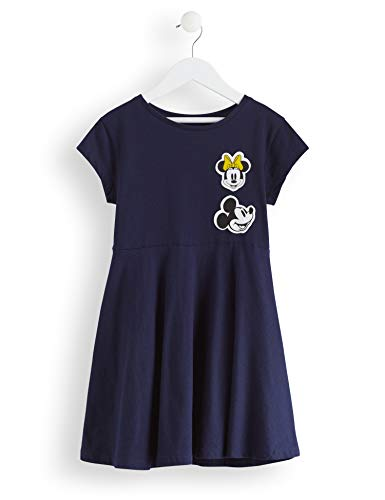 RED WAGON Amazon-Marke: RED WAGON Mädchen Minnie Mouse Skater-Kleid, Blau (Navy), 104, Label:4 Years
