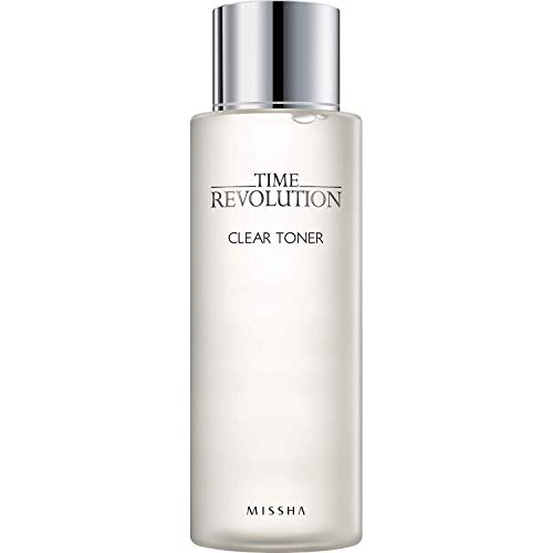 MISSHA Time Revolution Clear Toner 250ml-Gentle and refreshing wipe off type Clear Toner hydrates, soothes, and helps eliminate pores, impurities, and dead skin cells.