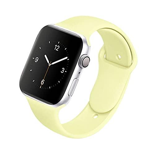 ZXC Soft Silicone Band Fit para Apple Watch Series 6 5 4 3 2 1 3 8MM 42MM Correa de Banda de Reloj de Goma Ajuste para iWatch SE 6/5 40MM 44MM