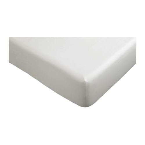 IKEA KNOPPA - sábana bajera ajustable, blanco - 90 x 200 cm