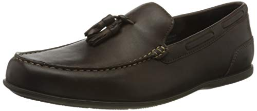 Rockport Malcom Tassel Loafer, Mocasines Hombre, Marrón Java 002, 46 EU