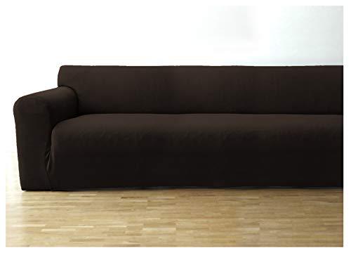 Bellboni Funda de sofá, Forro de sofá, Funda Ajustable bielástica, Apta para Muchos sofás Normales de 3 plazas, marrón