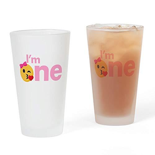 CafePress Emoji Geburtstagsglas für 2 Pint frosted
