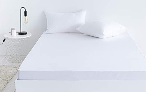 Todocama – Protector de colchón Impermeable, cubrecolchón, sábana Bajera Protectora Impermeable, Ajustable, hipoalergénica. (Todas Las Medidas Disponibles). (Cama 105 x 190/200 cm)