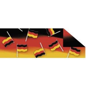 Ludwig Bähr 10 x Fotokarton Fussball 300g/qm 49,5x68cm Fahnen