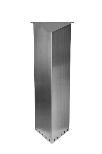 Großraumbriefkasten TRIANGELO Edelstahl-V2A Entnahme von hinten