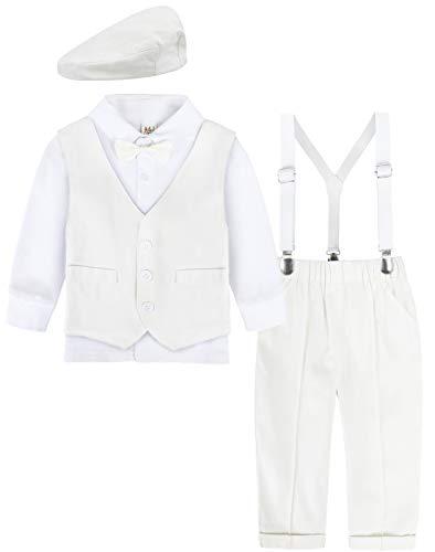 mintgreen Niños Bebes Vestidos de Bautizo 4 Piezas Traje Formal Caballero Atuendo, Marfil, 3-4 años