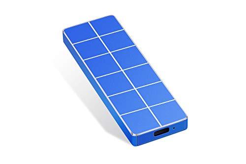 External Festplatte 1TB 2TB, portable Festplatte External Type-C USB 3.0 für PC, Laptop und Mac (2TB Blue)