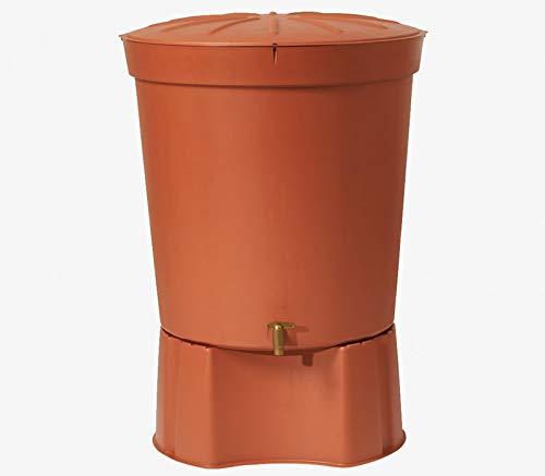 Terracotta 300 L Toscana Water Butt With Stand Garden Rain Water Barrel Tank Rainwater Harvesting