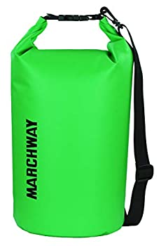 Floating Waterproof Dry Bag 5L/10L/20L/30L/40L Roll Top Dry Sack for Marine Kayaking Rafting Boating Swimming Camping Hiking Beach Fishing Skiing Snowboarding Hunting Climbing Surfing  Green 20L