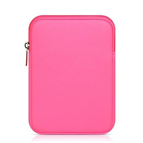 LIUCHEN Funda de tabletaFunda para Tableta para Amazon Bolsa para Tableta Funda para Tableta para Xiaomi Huawei Samsung, Rosa roja, 8 Pulgadas